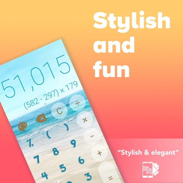 Stylish Calculator app image August 2019