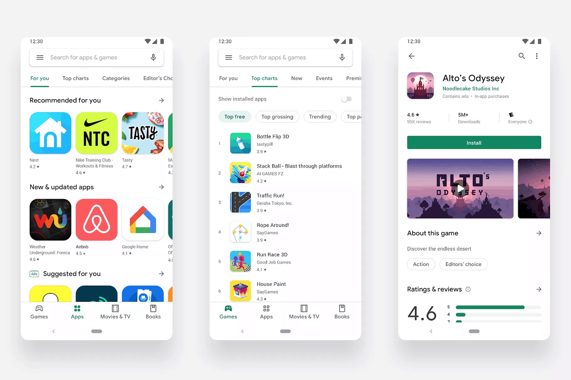 google play material redesign white