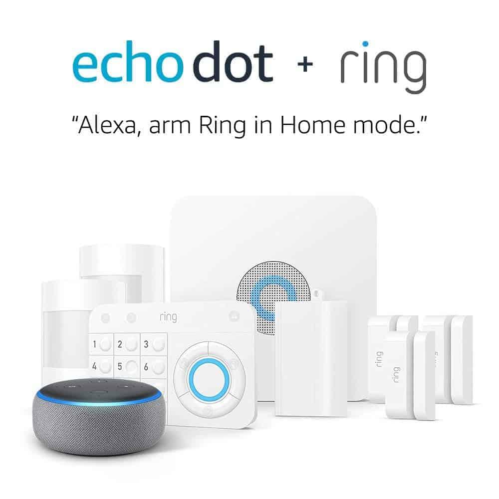 Ring Alarm 5 Piece Kit + Echo Dot (3rd Gen) - Amazon