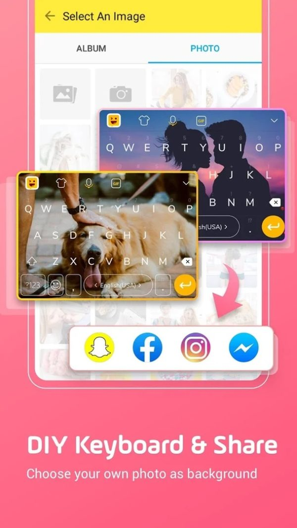 Facemoji Keyboard app image September 2019