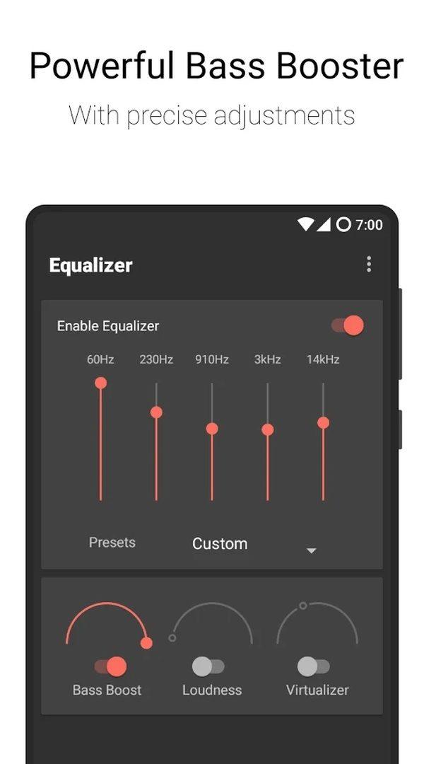 Flat Equalizer Bass Booster Volume Booster app image September 2019