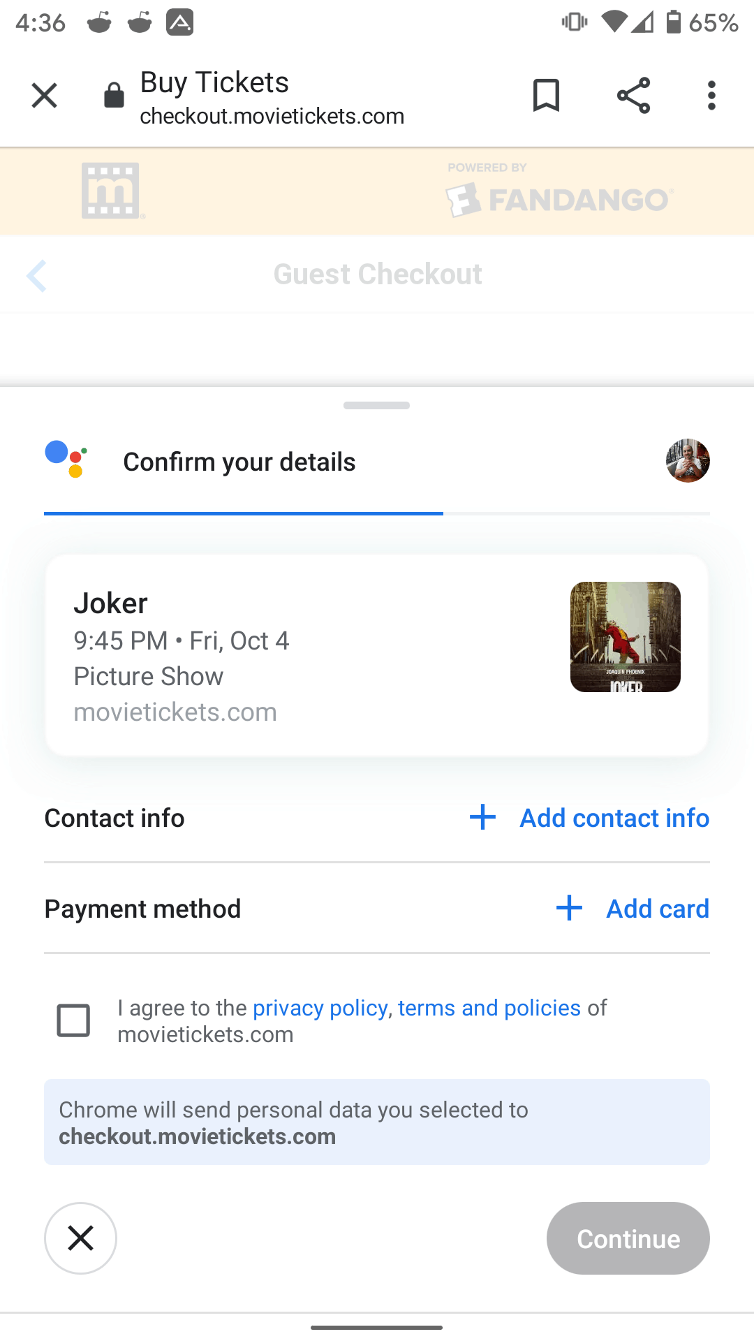Google Assistant Duplex Movie Tickets 1