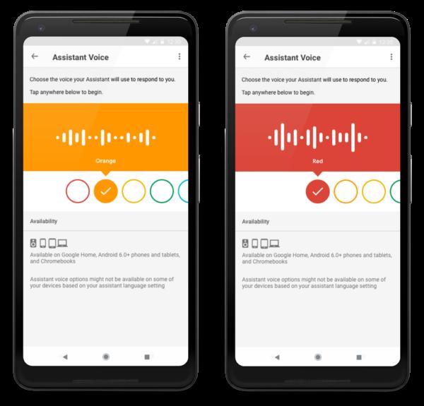 Google Assistant Voices