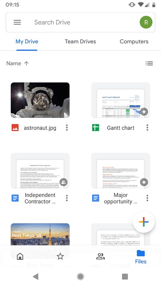 Google Drive app image September 2019