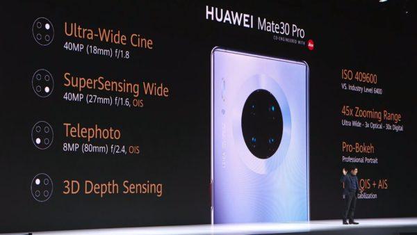 Huawei Mate 30 Pro camera specs