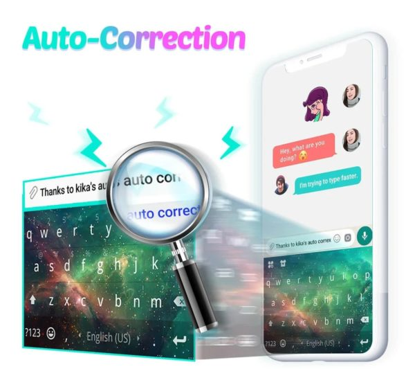 Kika Keyboard app image September 2019