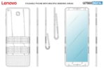 Lenovo foldable smartphone with two hinges patent 1