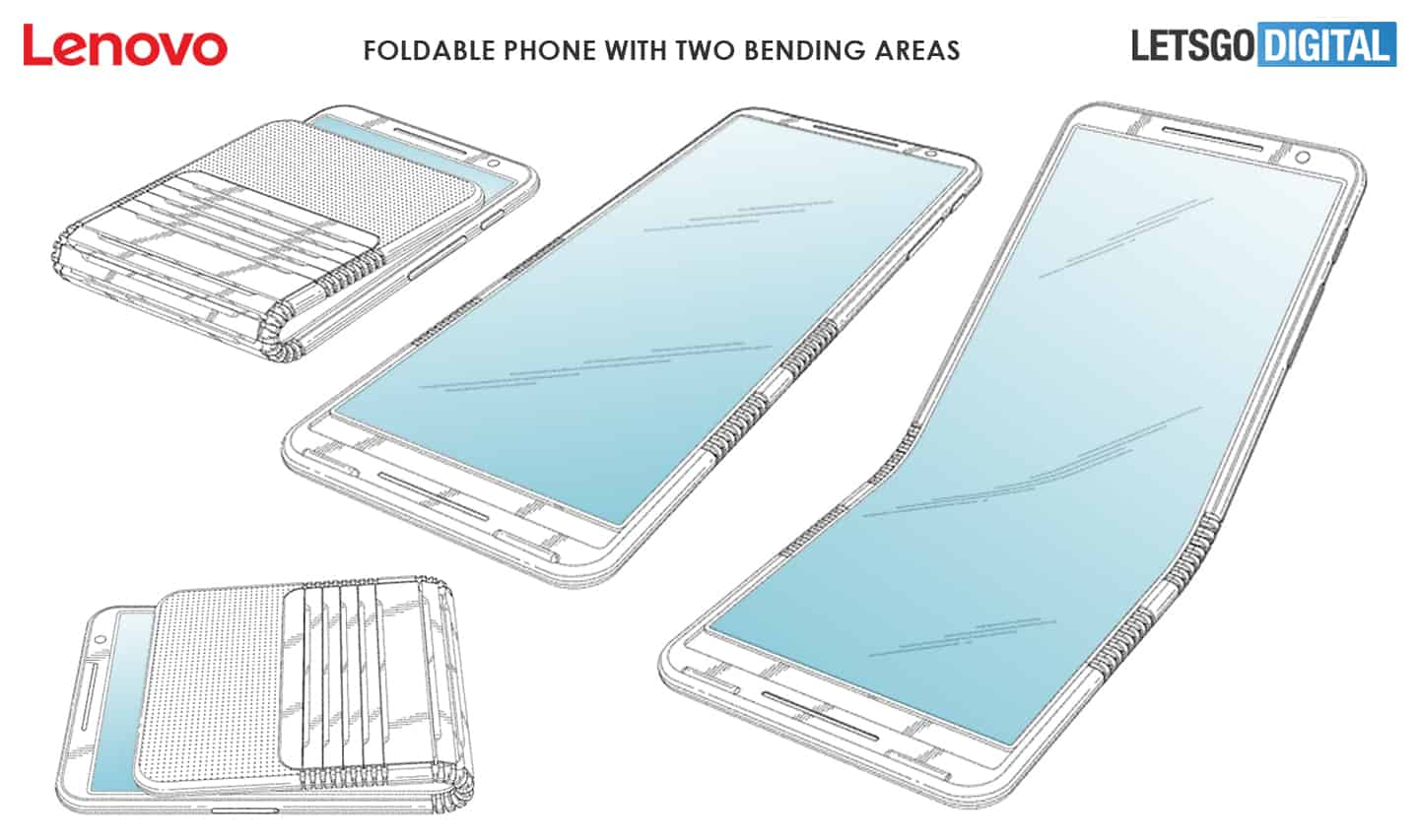 Lenovo foldable smartphone with two hinges patent 2