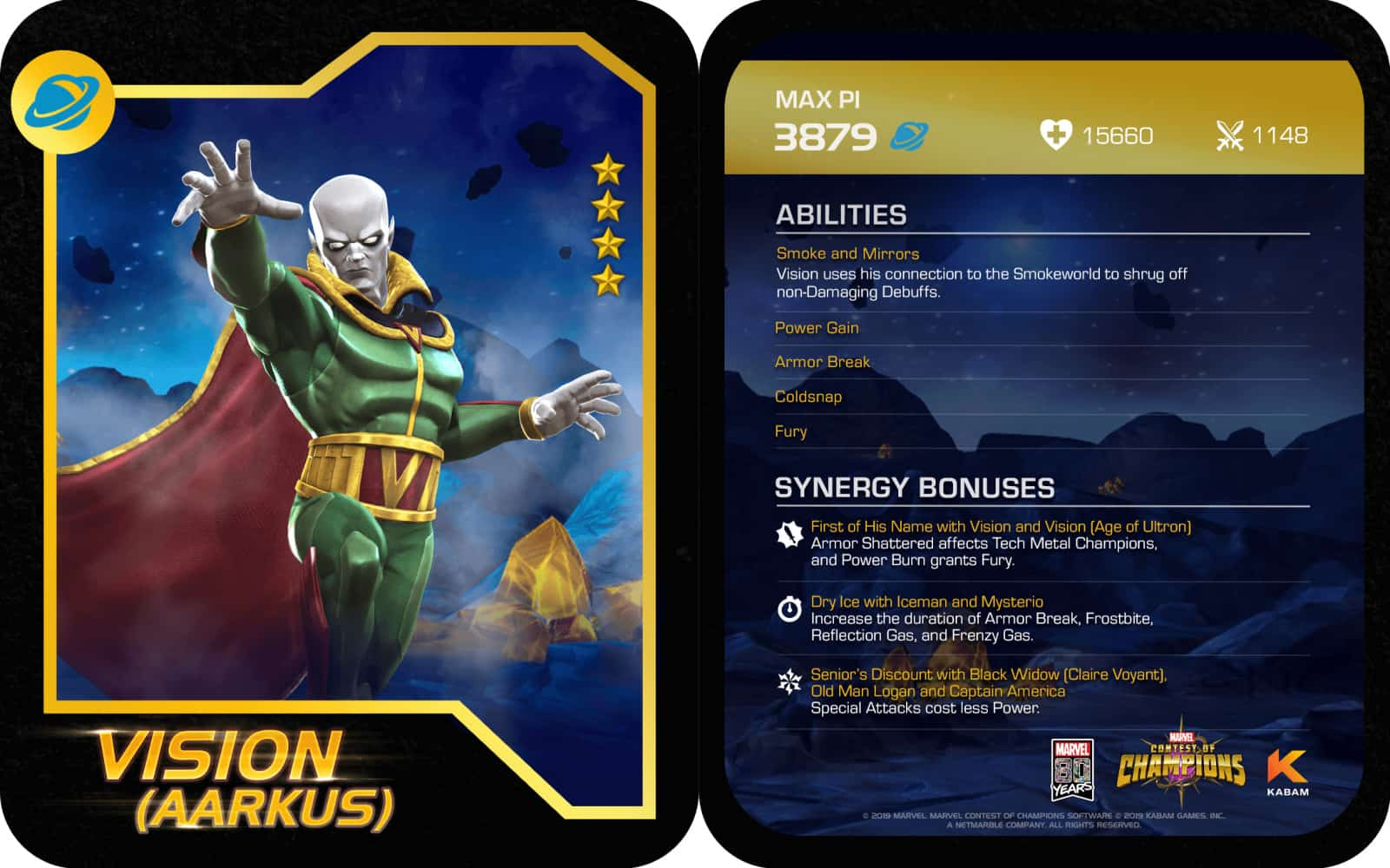 Marvel Contest of Champions Vision Abilities