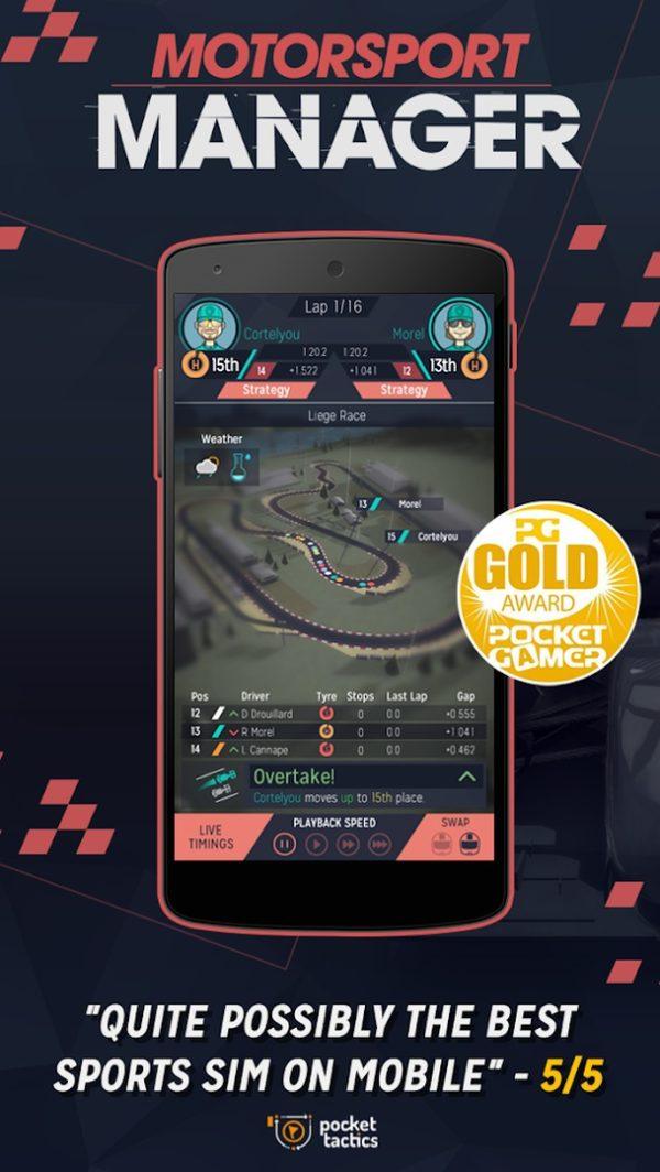 Motorsport Manager Mobile app image September 2019