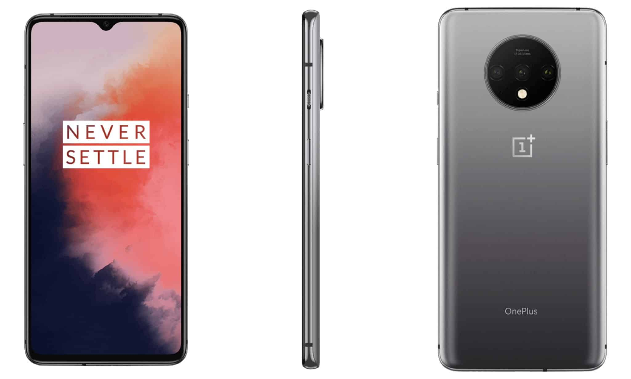 OnePlus 7T Frosted Silver render 1