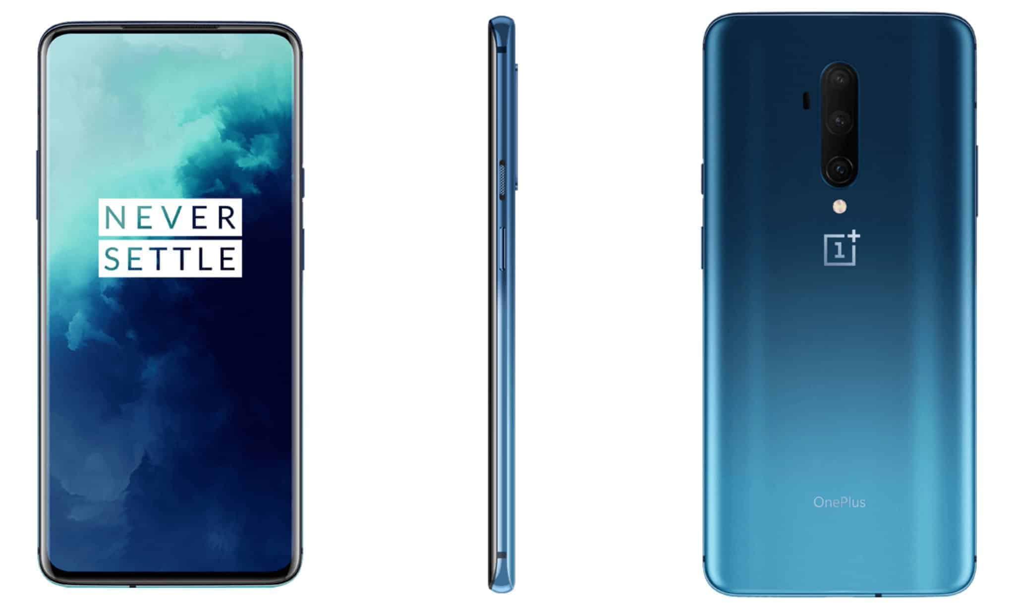 OnePlus 7T Pro Glacier Blue render 1