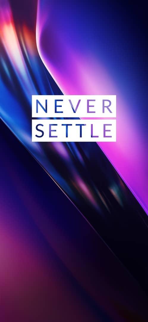 OnePlus 7T wallpaper 2 Never Settle