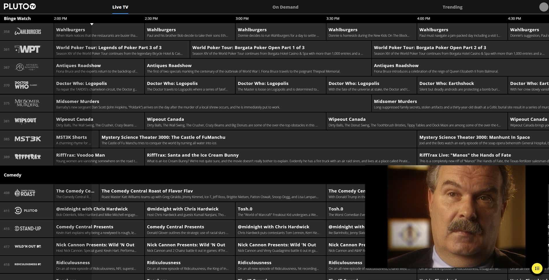 Pluto Live TV Streaming Screenshot 01