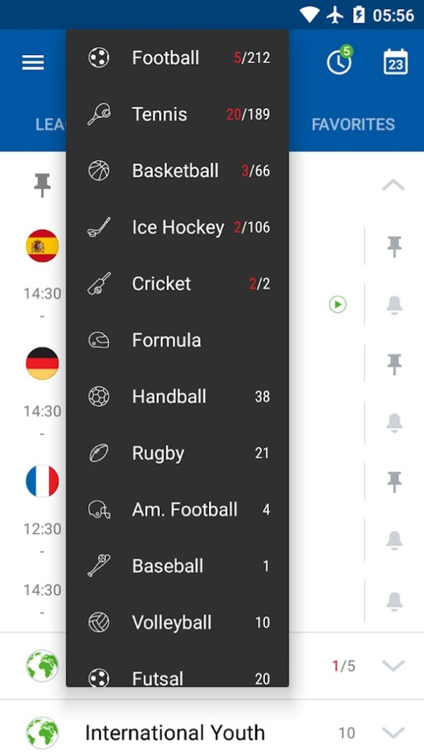 SofaScore app image September 2019