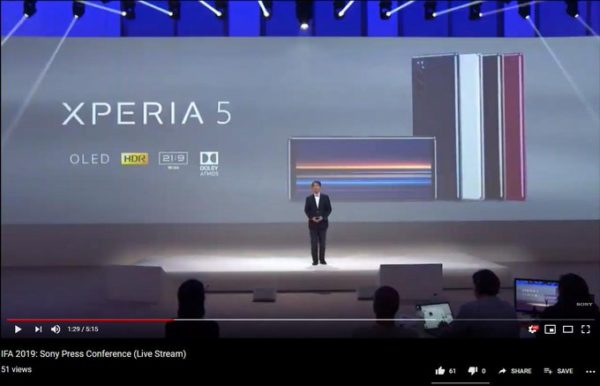 Sony Xperia 5 conference leak 1