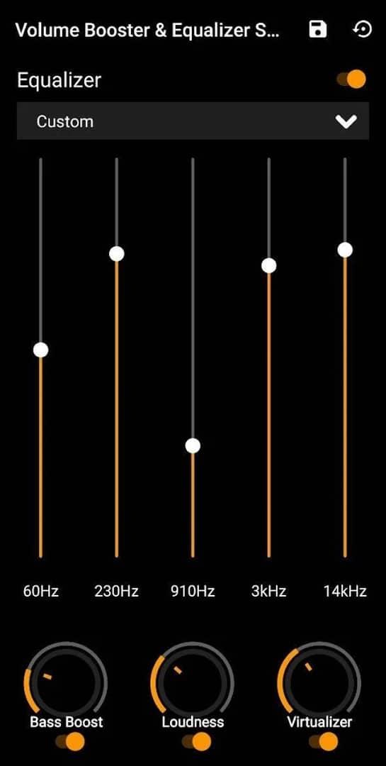 Volume Boost Bass Boost Equalizer Sound Booster app image September 2019