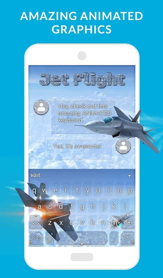 Wave Keyboard Background image 6