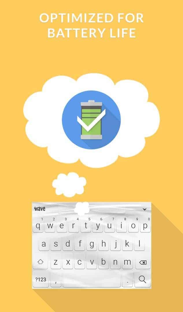 Wave Keyboard Background image 8