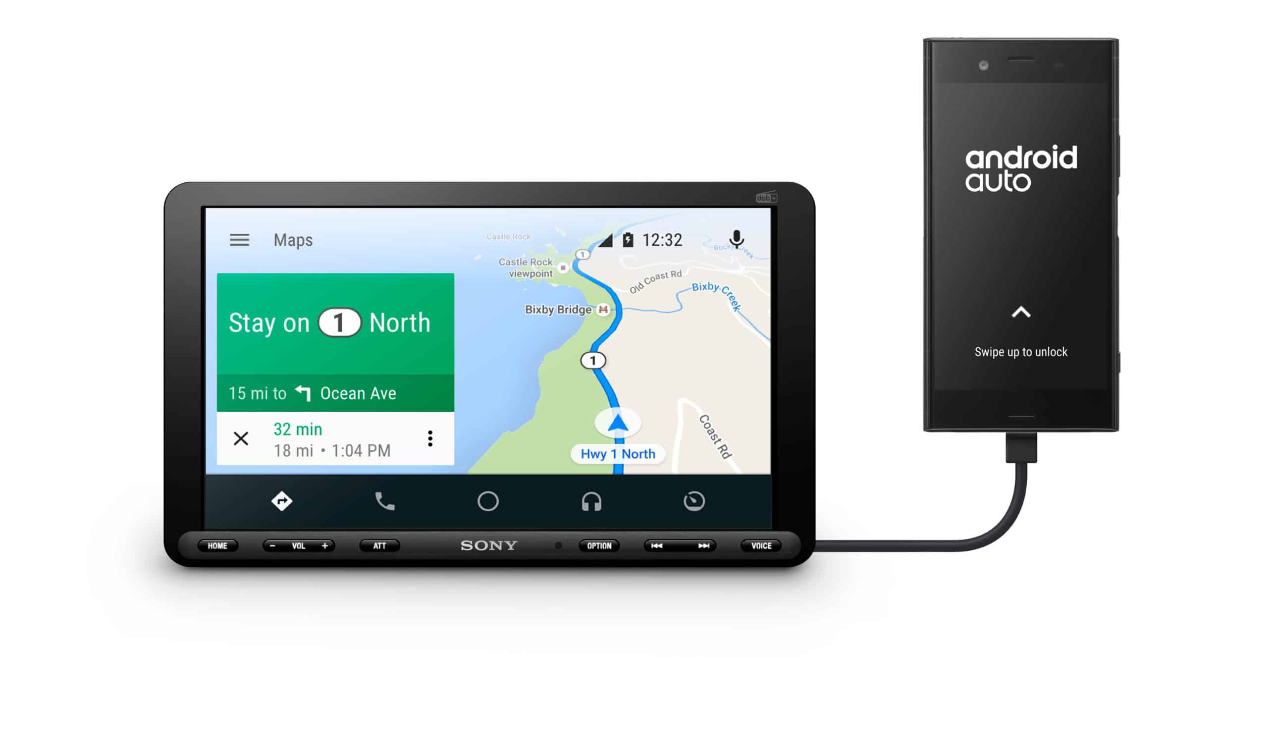 XAV AX8050D Front Android Auto Large