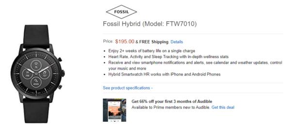 fossil hybrid watch