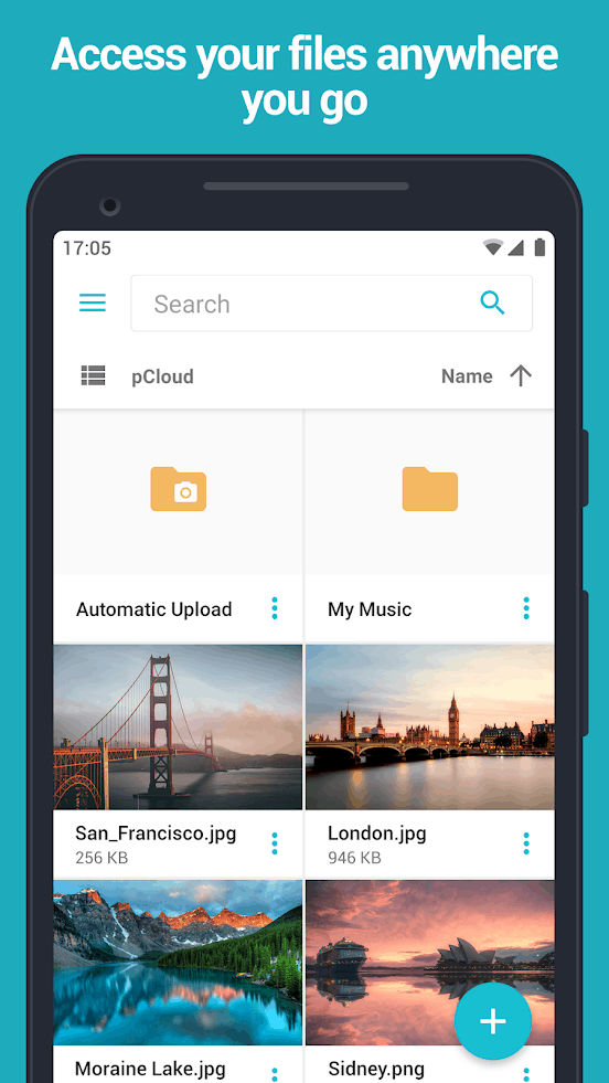 pCloud app image September 2019