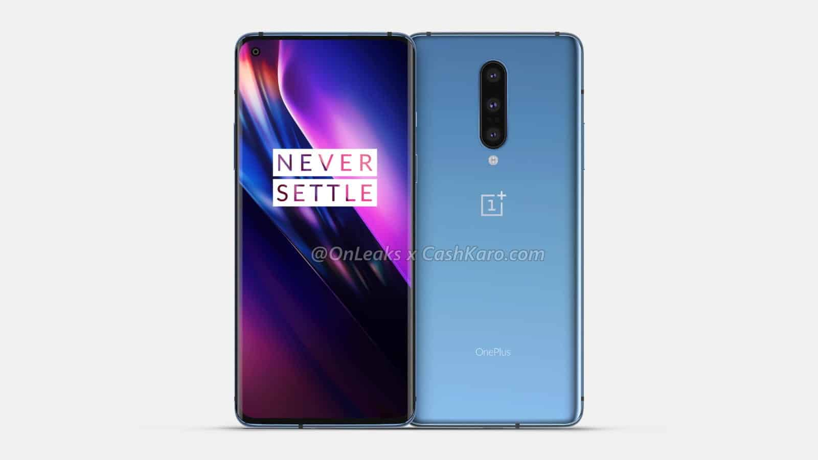 00 ONEPLUS 8 front and back OnLeaks CashKaro