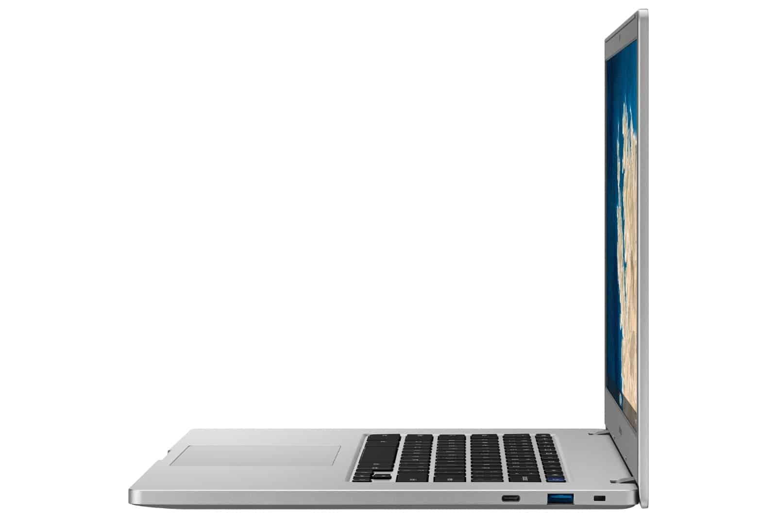 Chromebook 4 Side Open Platinum Titan