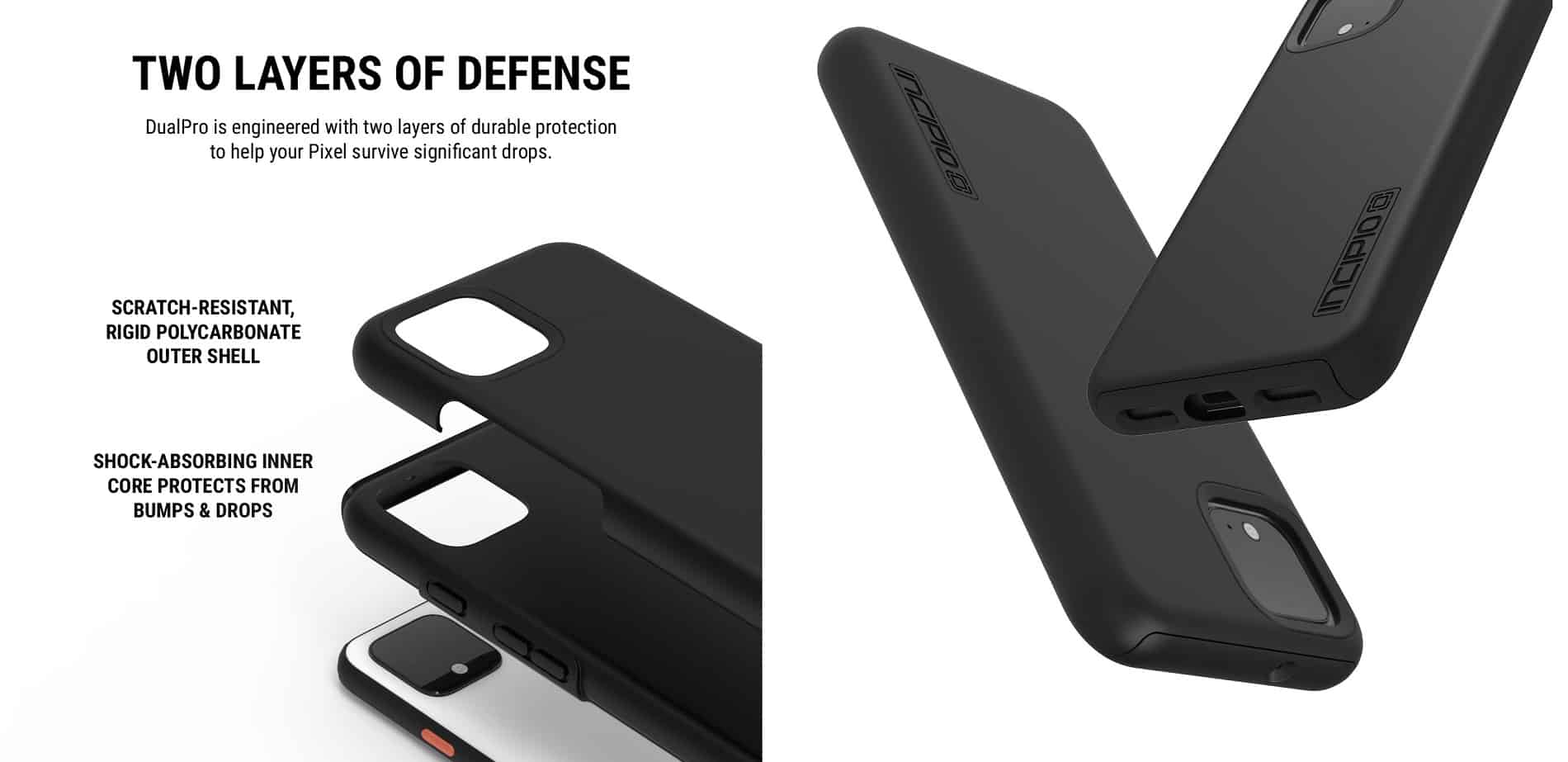 Incipio DualPro Google Pixel 4 XL Features Case 01