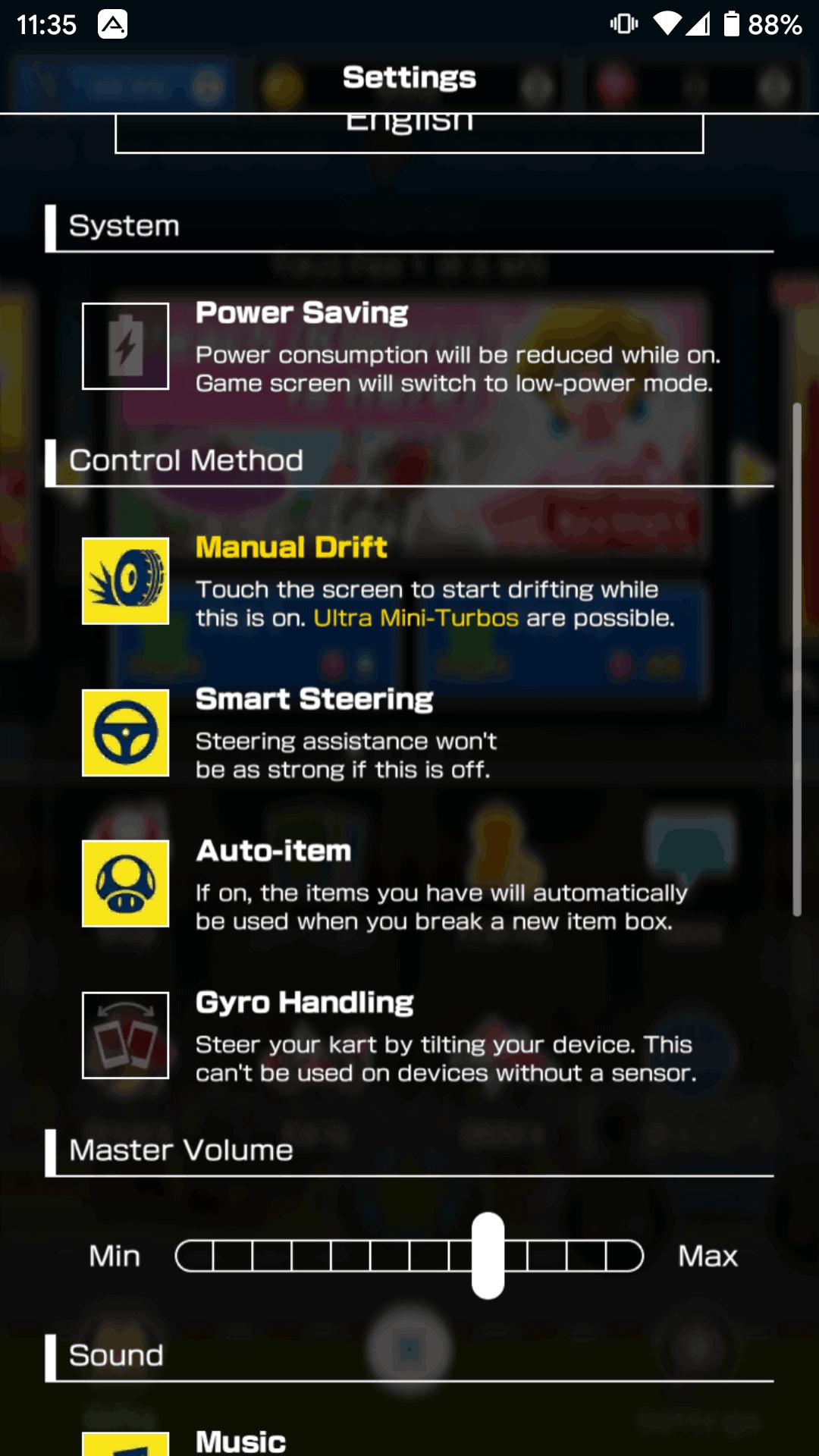 Mario Kart Tour Controls 3