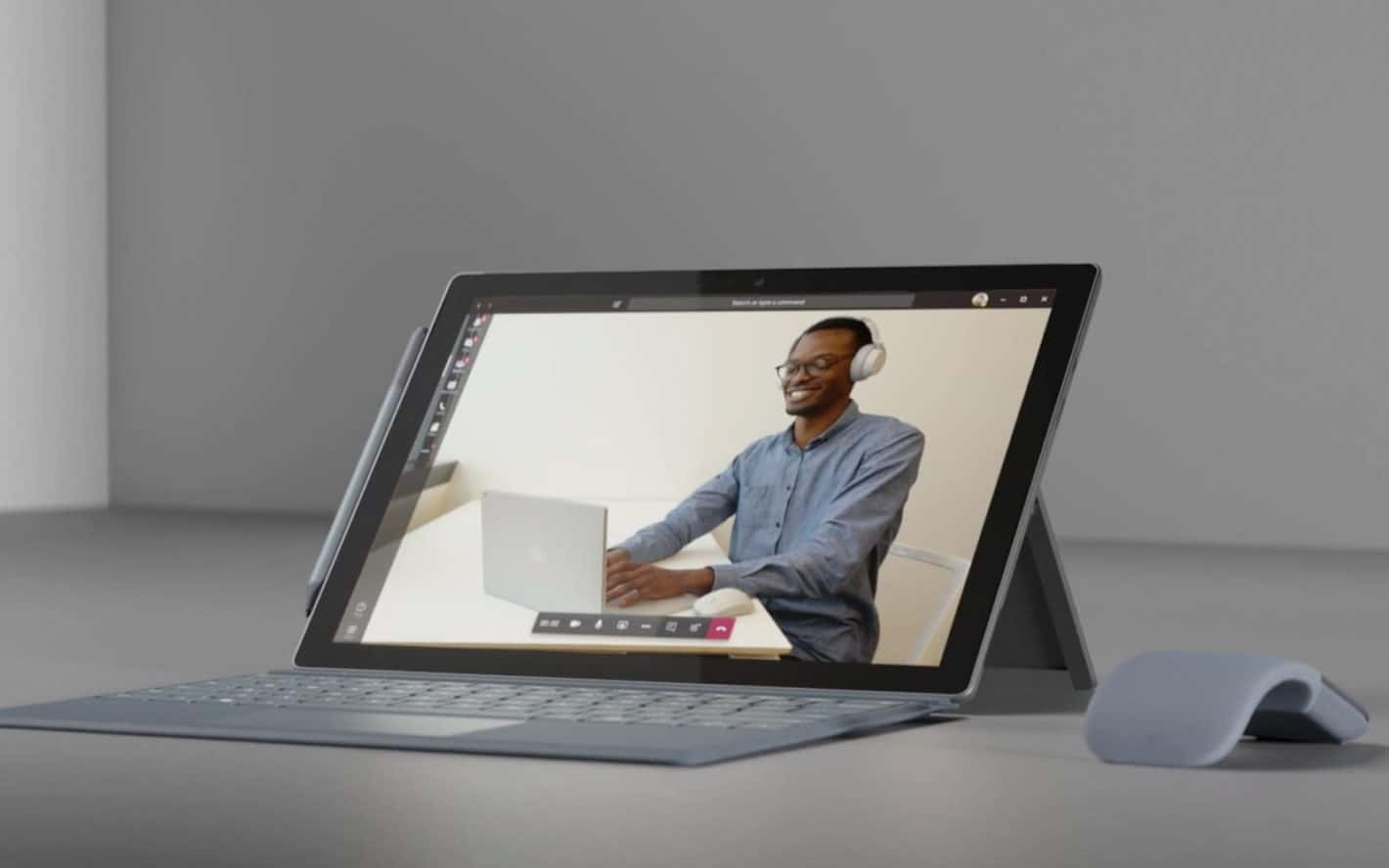 Microsoft Surface Pro 7 from promo vid Microsoft for Gift Guide