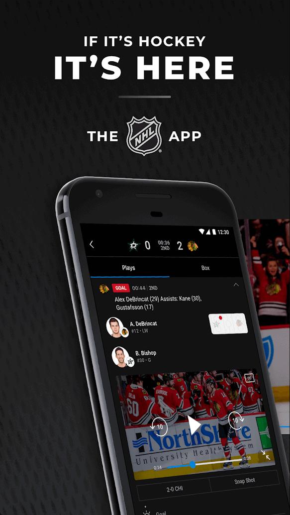 NHL app image October 2019