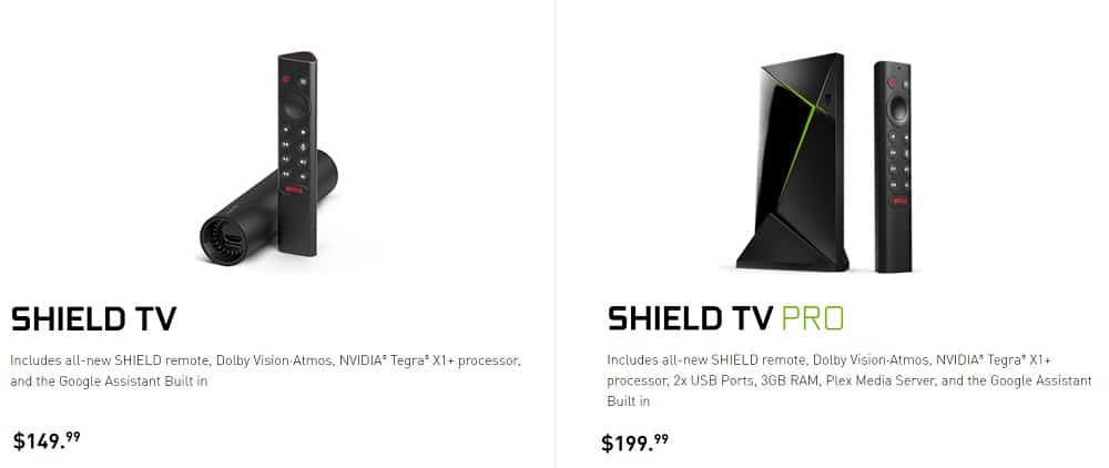 NVIDIA SHIELD TV 2019 pricing
