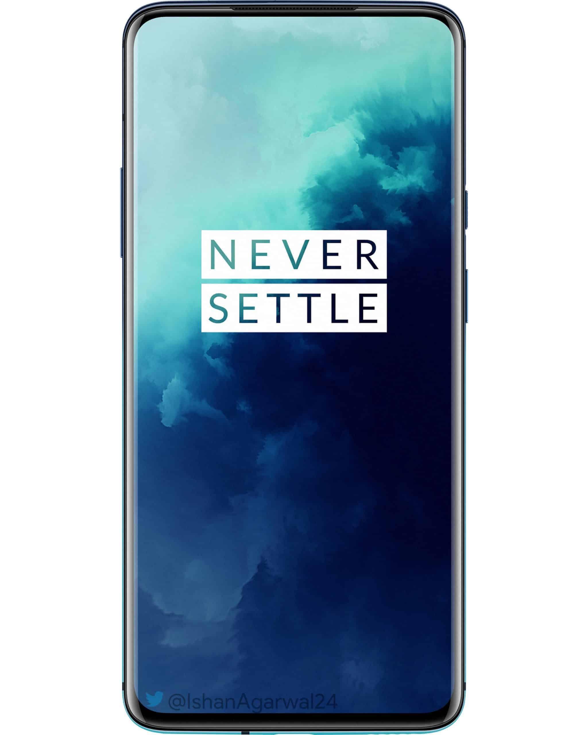 OnePlus 7T Pro Haze Blue official render leak 1