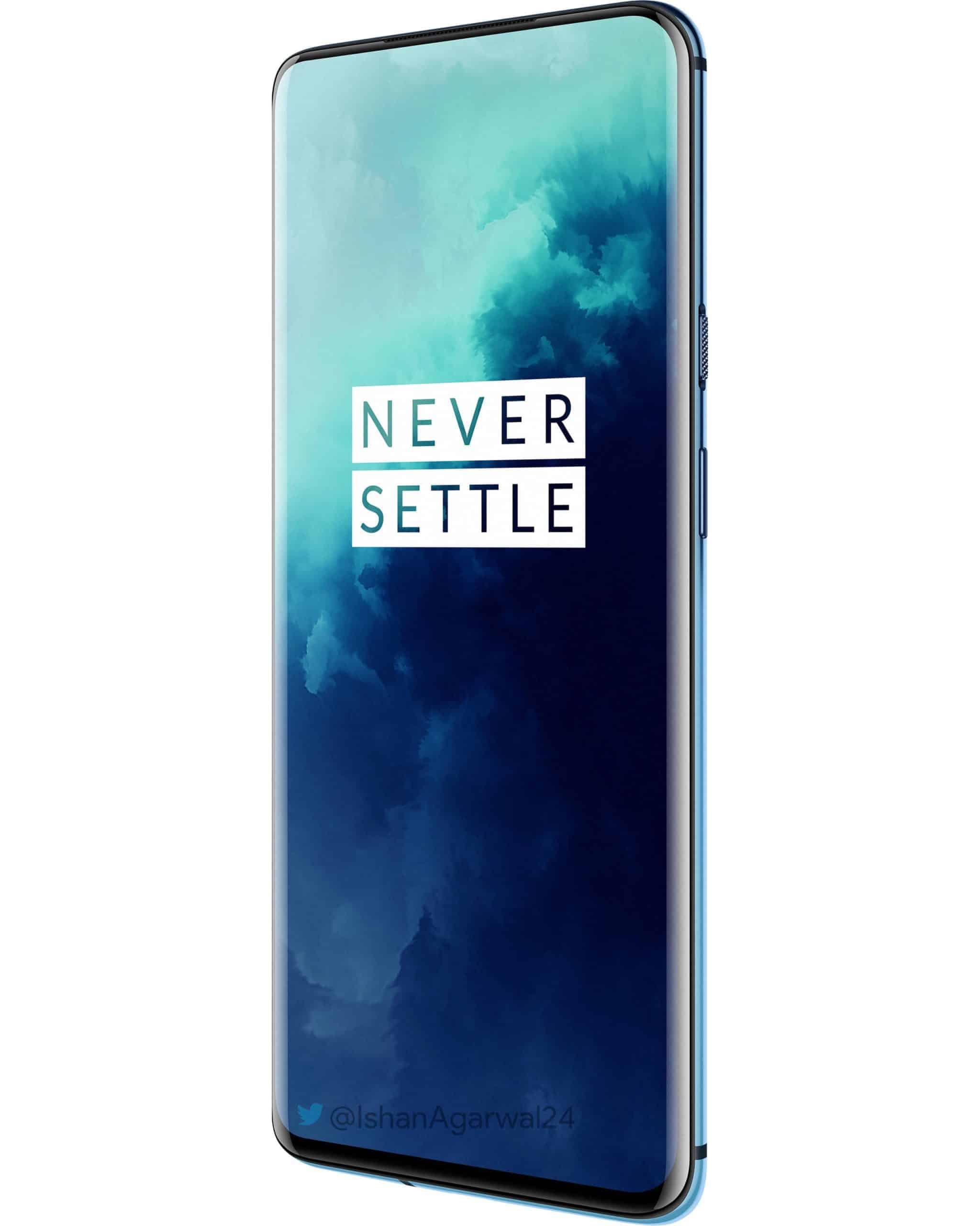 OnePlus 7T Pro Haze Blue official render leak 3