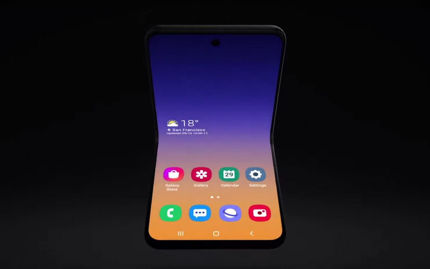 Samsung Galaxy Flip Fold SDC2019 promo video