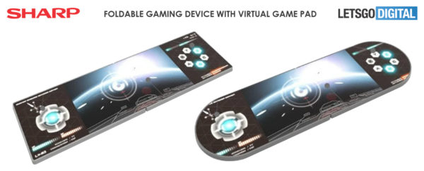 Sharp gaming foldable smartphones patent