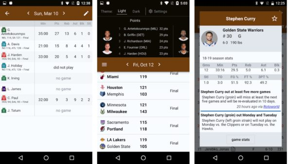 Sports Alerts NBA edition app image 1