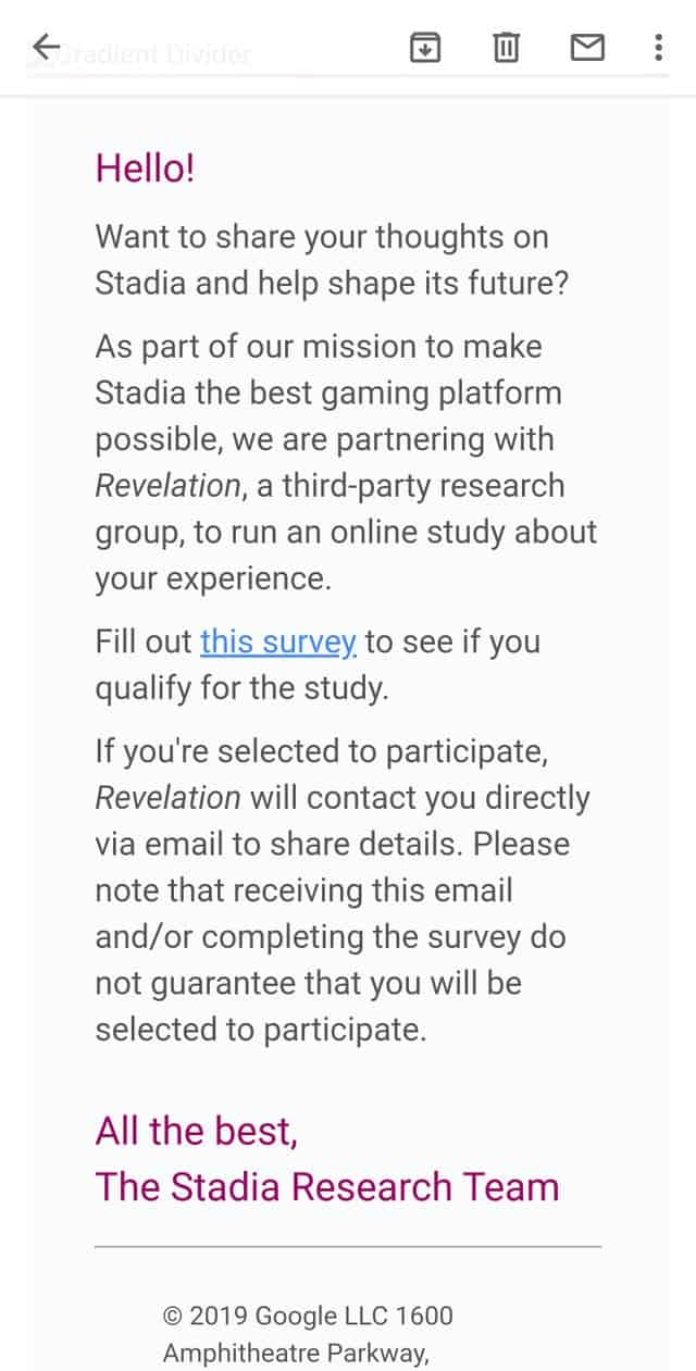Stadia Research