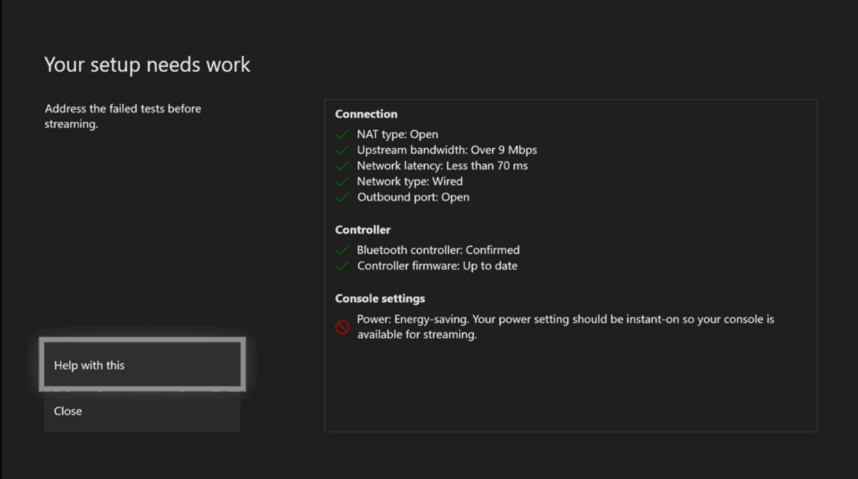 Xbox Console Streaming network requirements