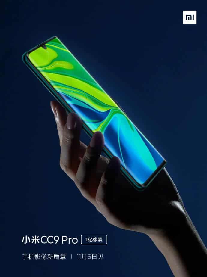 Xiaomi Mi CC9 Pro front design confirmed