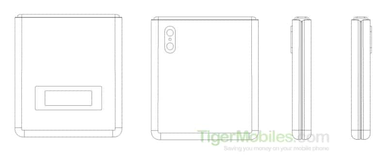 Xiaomi clamshell foldable smarpthone patent October 2019 2