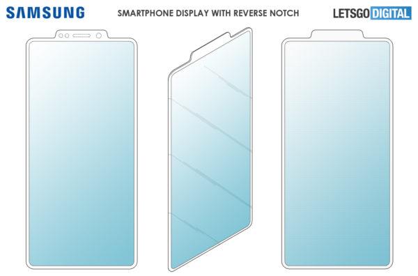 samsung smartphone reverse notch