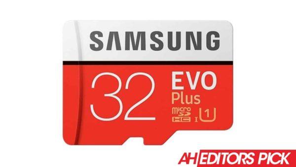 AH Editors Pick Samsung EVO Plus microSD card