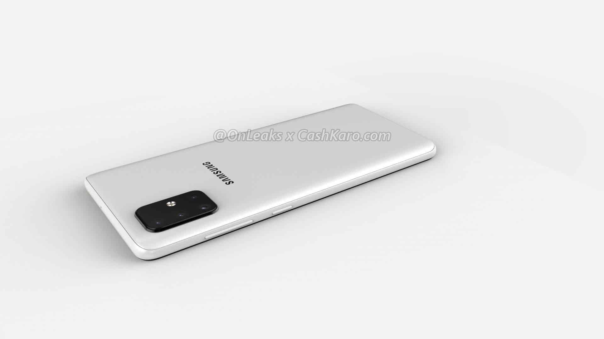 Galaxy A71 render leak 8