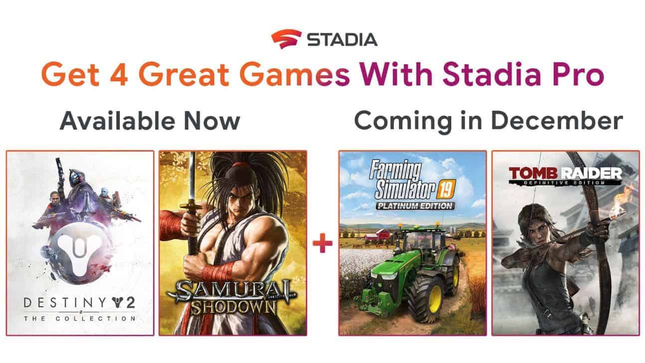 New Free Stadia Pro Games