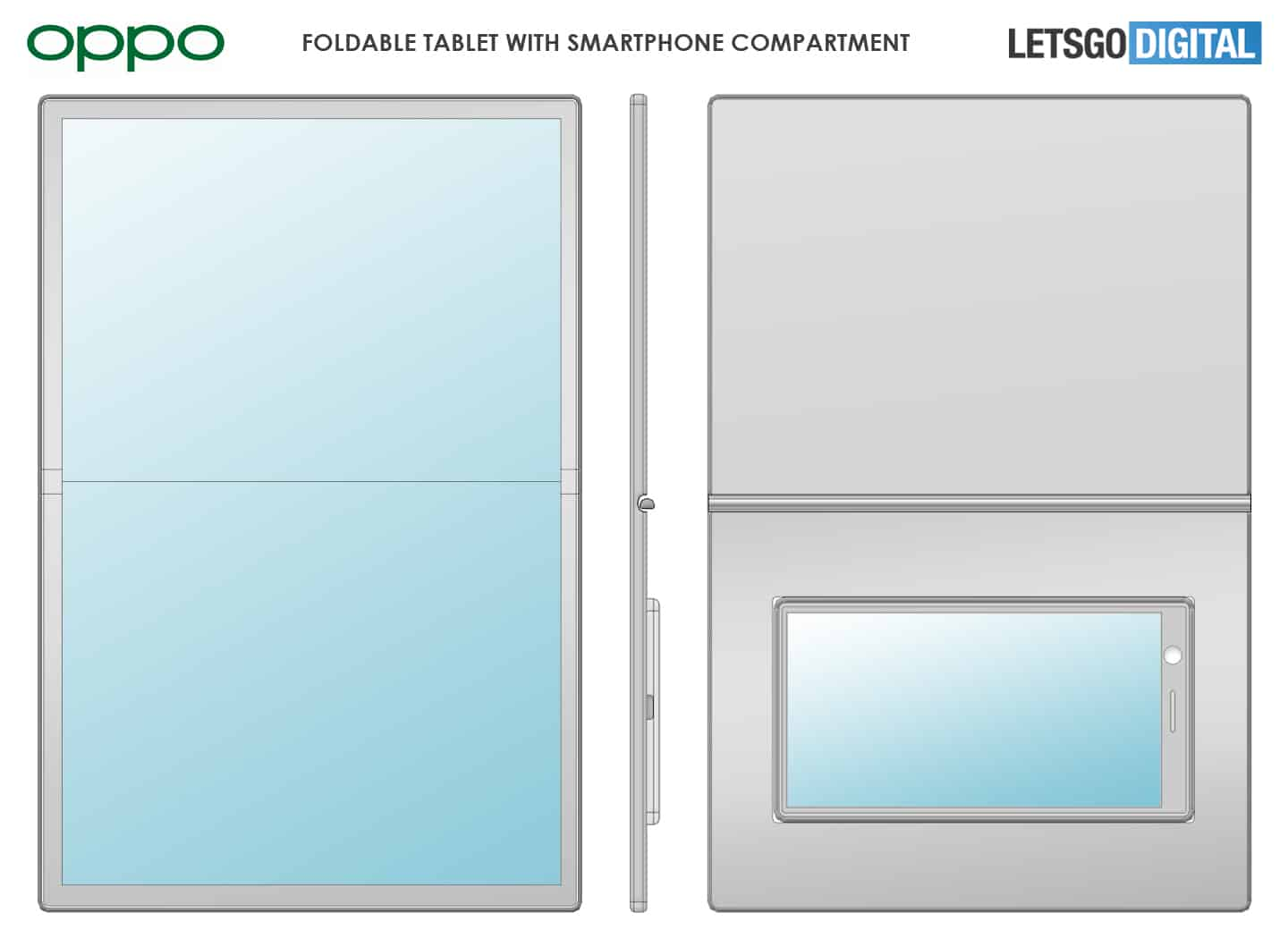 OPPO foldable tablet with smartphone dock patent 1