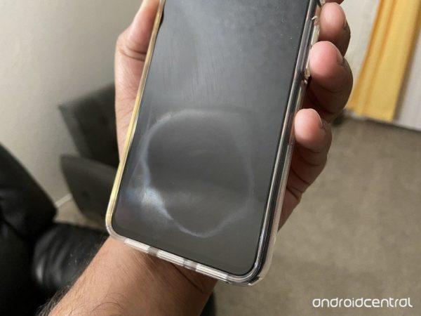 Pixel 4s oleophobic coating