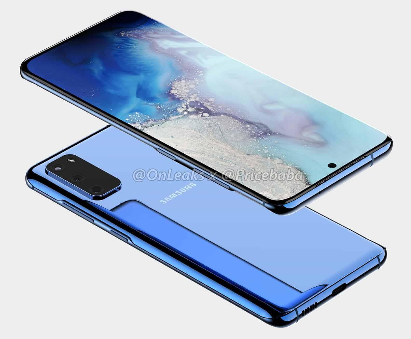 Samsung Galaxy S11e render OnLeaks 3