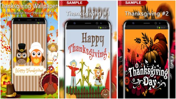 Thanksgiving Wallpapers app collage